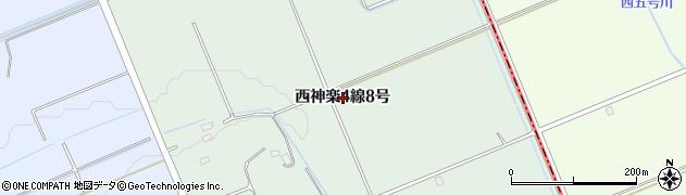 北海道旭川市西神楽4線(8号)周辺の地図