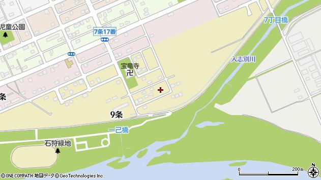 〒074-0009 北海道深川市九条の地図