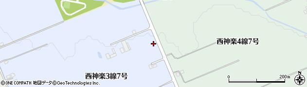 北海道旭川市西神楽3線7号周辺の地図