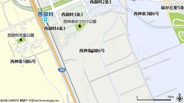 〒078-8382 北海道旭川市西神楽2線の地図