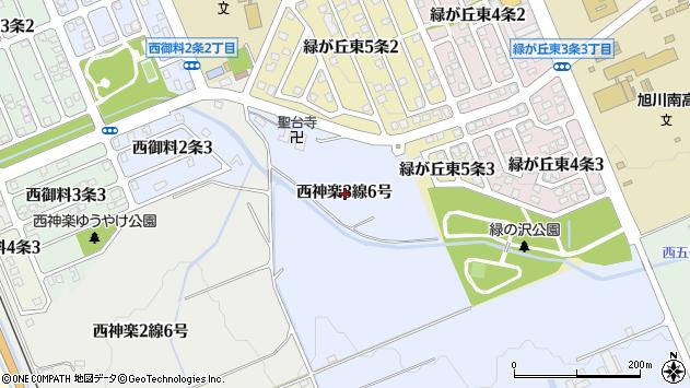 〒078-8383 北海道旭川市西神楽3線の地図