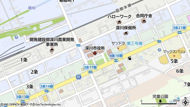 〒074-0000 北海道深川市(以下に掲載がない場合)の地図