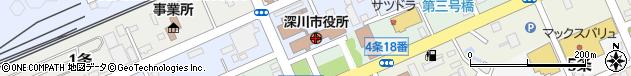 北海道深川市周辺の地図