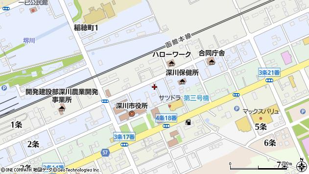 〒074-0002 北海道深川市二条の地図