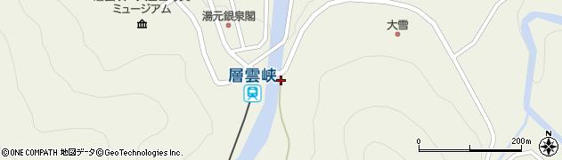 層雲峡神社周辺の地図