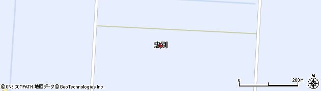 北海道旭川市東旭川町(忠別)周辺の地図