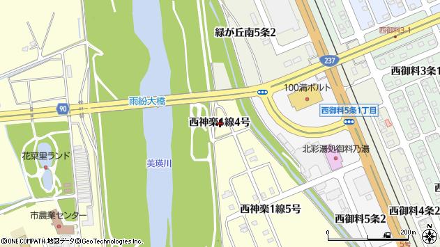 〒078-8381 北海道旭川市西神楽1線の地図