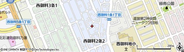 北海道旭川市西御料2条周辺の地図