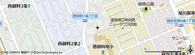 北海道旭川市西御料1条周辺の地図