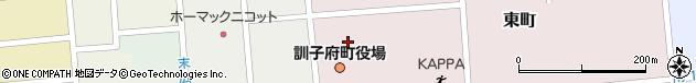 北海道常呂郡訓子府町周辺の地図