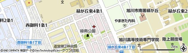 北海道旭川市緑が丘東4条周辺の地図
