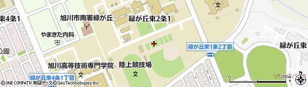 北海道旭川市緑が丘東2条周辺の地図