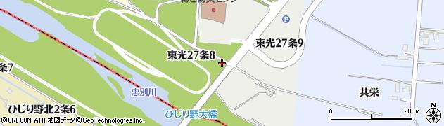 北海道旭川市東光27条周辺の地図