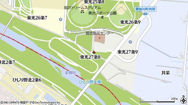 〒078-8367 北海道旭川市東光27条の地図