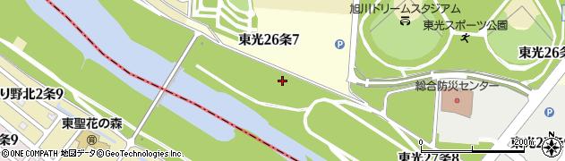 北海道旭川市東光26条周辺の地図
