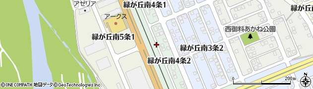 北海道旭川市緑が丘南4条周辺の地図