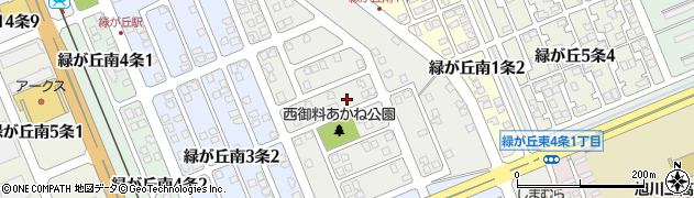 北海道旭川市緑が丘南2条周辺の地図