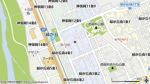 〒078-8813 北海道旭川市緑が丘南3条の地図