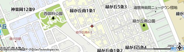 北海道旭川市緑が丘南1条周辺の地図