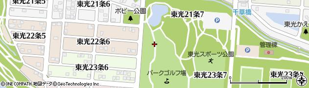 北海道旭川市東光22条周辺の地図