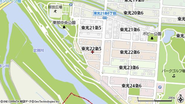 〒078-8362 北海道旭川市東光22条の地図