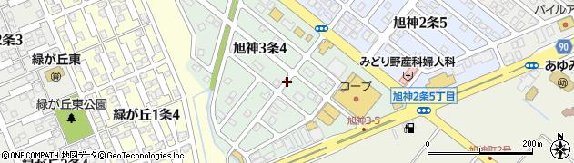 北海道旭川市旭神3条周辺の地図