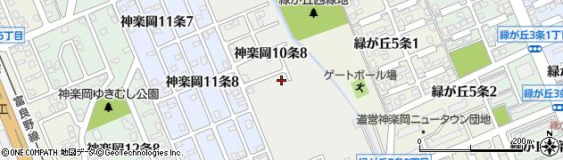 北海道旭川市神楽岡10条周辺の地図