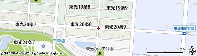 北海道旭川市東光20条周辺の地図