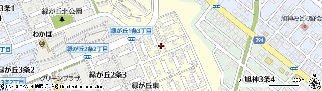 北海道旭川市緑が丘1条周辺の地図