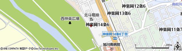 北海道旭川市神楽岡14条周辺の地図