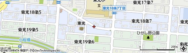 北海道旭川市東光18条周辺の地図