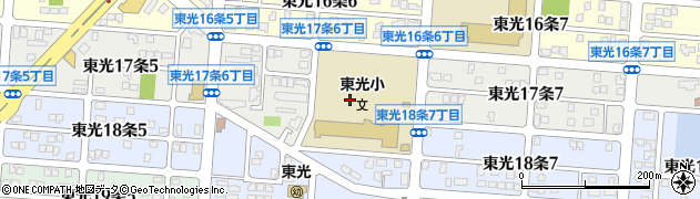 北海道旭川市東光17条周辺の地図