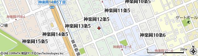 北海道旭川市神楽岡12条周辺の地図