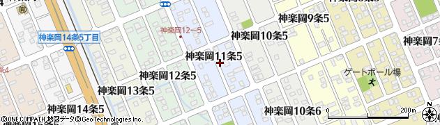 北海道旭川市神楽岡11条周辺の地図