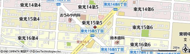 北海道旭川市東光15条周辺の地図