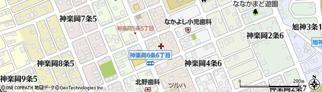 北海道旭川市神楽岡5条周辺の地図