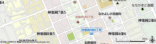北海道旭川市神楽岡6条周辺の地図