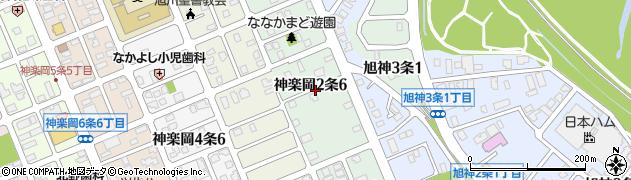 北海道旭川市神楽岡2条周辺の地図