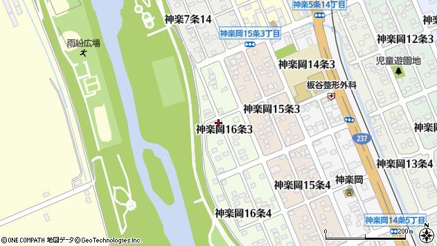 〒078-8326 北海道旭川市神楽岡16条の地図
