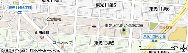 北海道旭川市東光12条周辺の地図