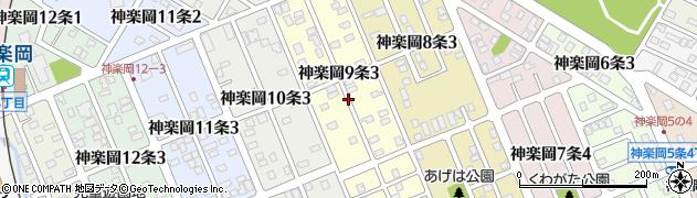 北海道旭川市神楽岡9条周辺の地図