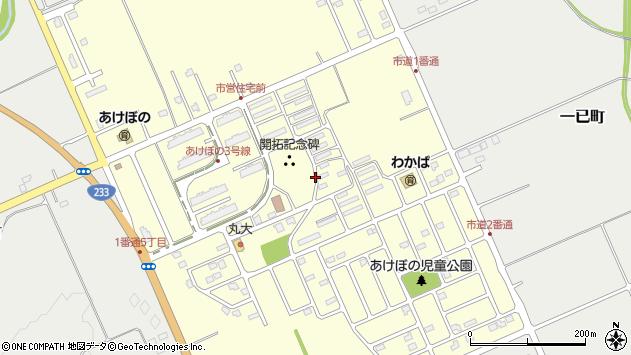 〒074-0031 北海道深川市あけぼの町の地図