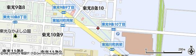 北海道旭川市東光9条周辺の地図
