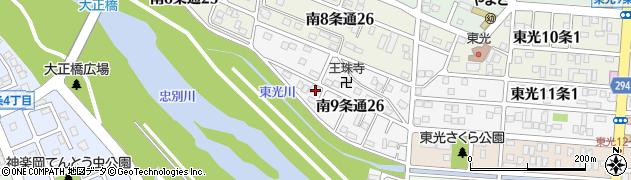 北海道旭川市南9条通周辺の地図