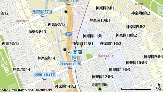 〒078-8322 北海道旭川市神楽岡12条の地図
