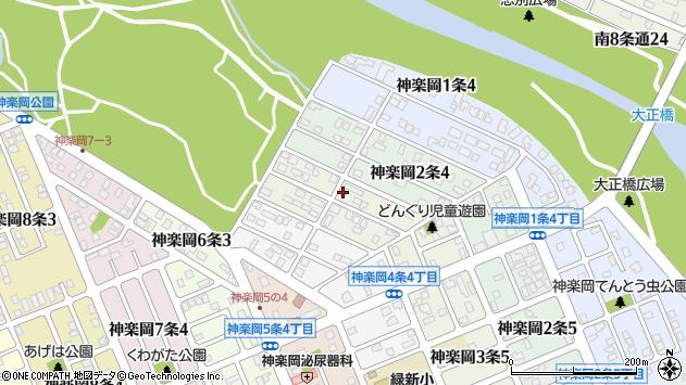 〒078-8313 北海道旭川市神楽岡3条の地図