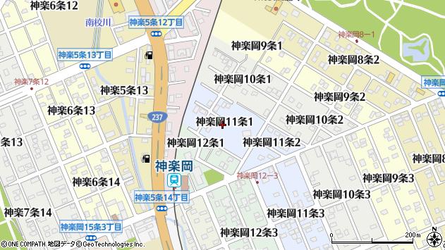 〒078-8321 北海道旭川市神楽岡11条の地図