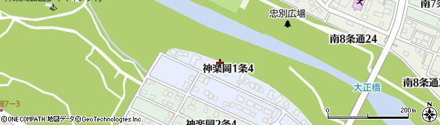 北海道旭川市神楽岡1条周辺の地図