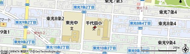 北海道旭川市東光8条周辺の地図