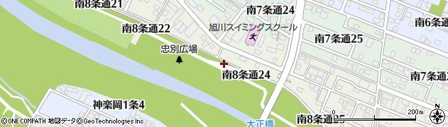 北海道旭川市南8条通周辺の地図